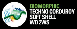 T BIOMORPHIC TECHNO CORDUROY SOFT SHELL WD 2WS